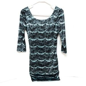 Charlotte Russe Dress Tunic Womens Small Teal Blue